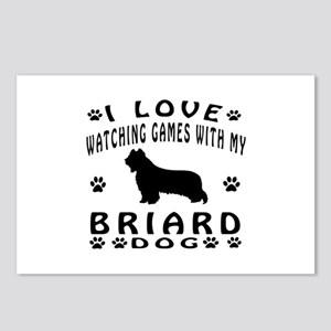 Briard design Postcards (Package of 8)