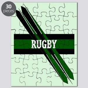 Rugby Points Black Green Puzzle