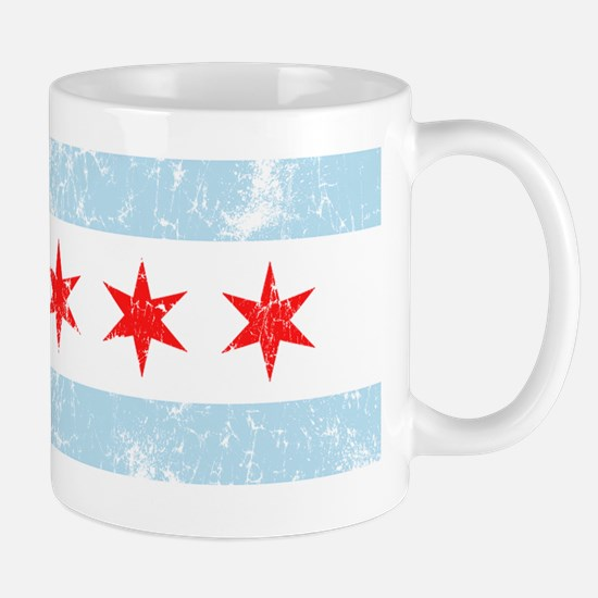 Chicago Flag Vintage Style Mugs