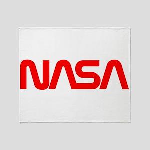 NASA Spider Logo Throw Blanket
