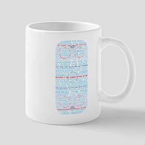 Hockey Rink Typography Design Mug