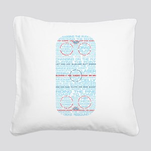 Hockey Rink Typography Design Square Canvas Pillow