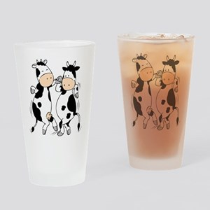 Mooviestars - Dancing Cows Drinking Glass