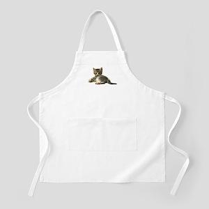 "Cute Tabby Kitten ""Meow"" BBQ Apron"