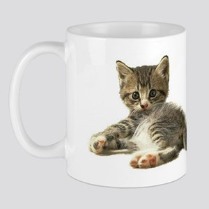 "Cute Tabby Kitten ""Meow"" Mug"