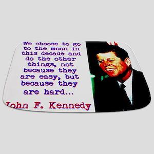 We Choose To Go To The Moon - John Kennedy Bathmat