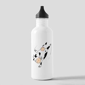 Mooviestars - Breakdancing Cow Stainless Water Bot