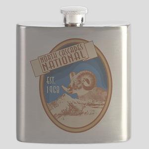 North Cascades Bighorn Badge Flask
