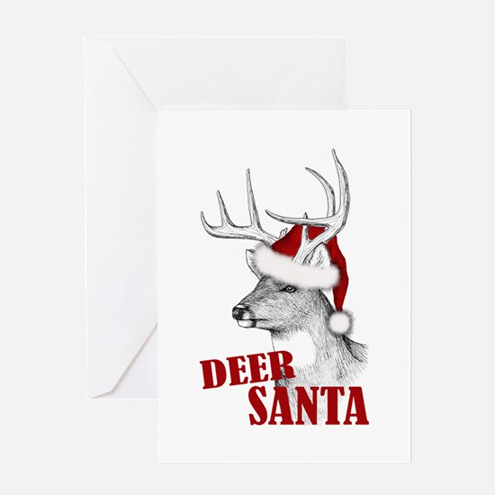 Deer Santa Greeting Card