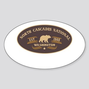 North Cascades Belt Buckle Badge Sticker (Oval)