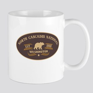 North Cascades Belt Buckle Badge Mug