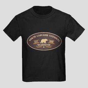 North Cascades Belt Buckle Badge Kids Dark T-Shirt
