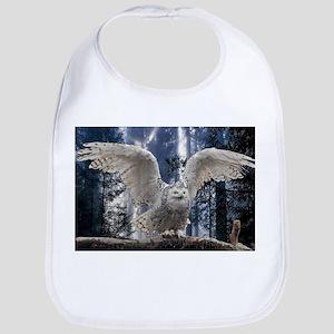 Woody Snow Owl Bib