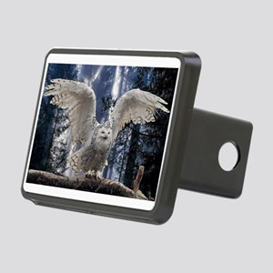 Woody Snow Owl Rectangular Hitch Cover