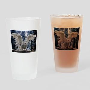 Woody Snow Owl Drinking Glass