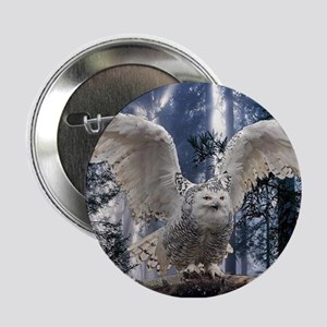 "Woody Snow Owl 2.25"" Button"