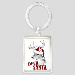 Deer Santa Portrait Keychain
