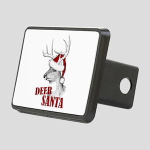 Deer Santa Rectangular Hitch Cover