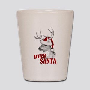 Deer Santa Shot Glass