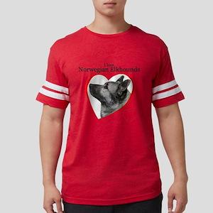 ElkhoundLove1 Mens Football Shirt