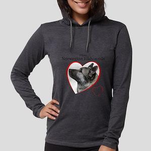 ElkhoundLove1 Womens Hooded Shirt