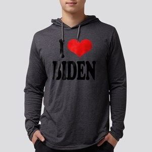 ilovebidenblk Mens Hooded Shirt