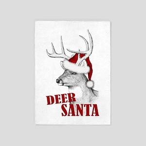 Deer Santa 5'x7'Area Rug