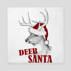 Deer Santa Queen Duvet