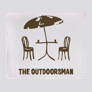The Outdoorsman Throw Blanket
