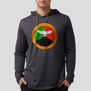 Zambia Roundel Aged Mens Hooded Shirt