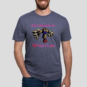 Fort Dorchester Wrestling Mens Tri-blend T-Shirt