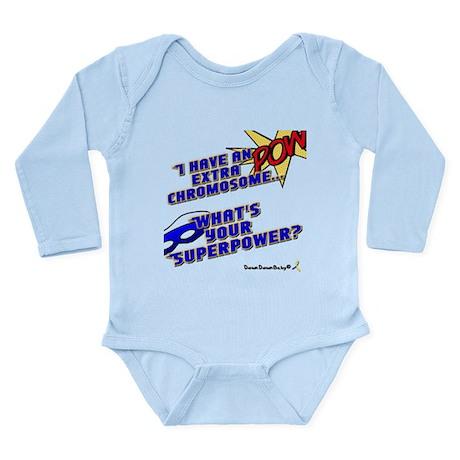 Extra Super Power Long Sleeve Infant Bodysuit