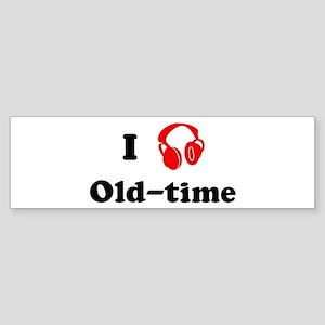 Old-time music Bumper Sticker