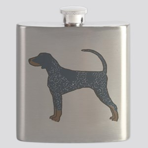 Blue Tick Coonhound Flask