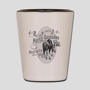 North Cascades Vintage Moose Shot Glass