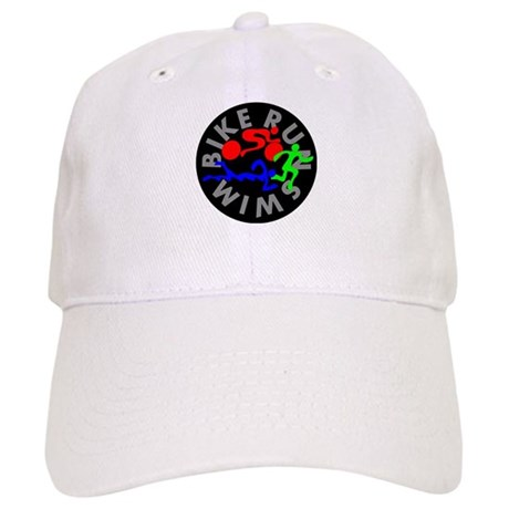 Triathlon Color Figures FLAT Cap