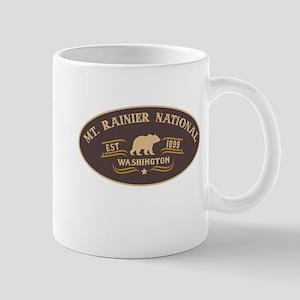 Mt. Rainier Belt Buckle Badge Mug