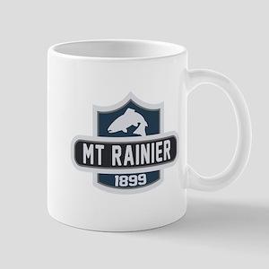 Mt. Rainier Nature Badge Mug