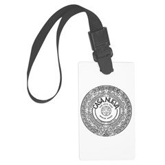 Aztec Calendar Luggage Tag