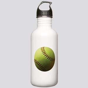 Yellow Softball Stainless Water Bottle 1.0L