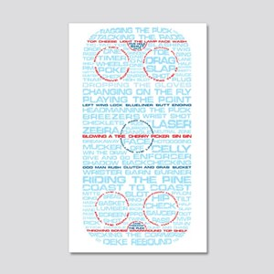 Hockey Rink Typography Design 20x12 Wall Decal