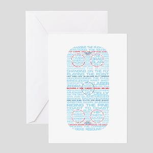Hockey Rink Typography Design Greeting Card