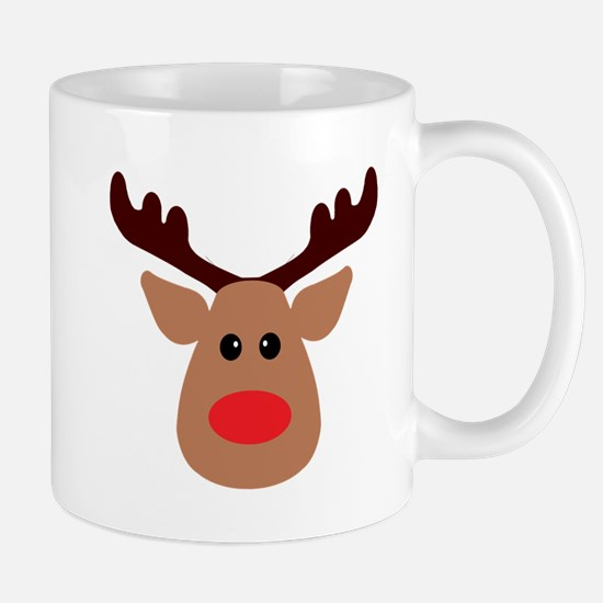 Christmas Red Nosed Reindeer Mug
