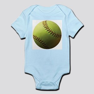Yellow Softball Infant Bodysuit