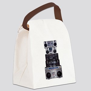 Old School Boomboxes Canvas Lunch Bag