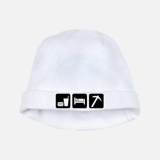 Eat Sleep Go Rockhounding baby hat