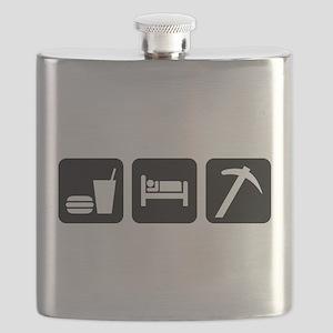 Eat Sleep Go Rockhounding Flask