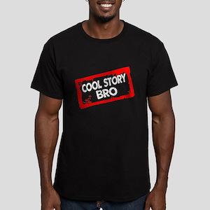Cool story bro Men's Fitted T-Shirt (dark)
