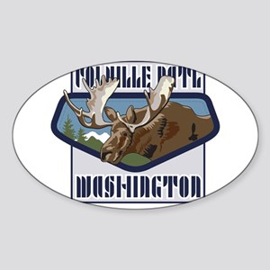 Colville Mountaintop Moose Sticker (Oval)