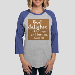 god delights small Womens Baseball Tee